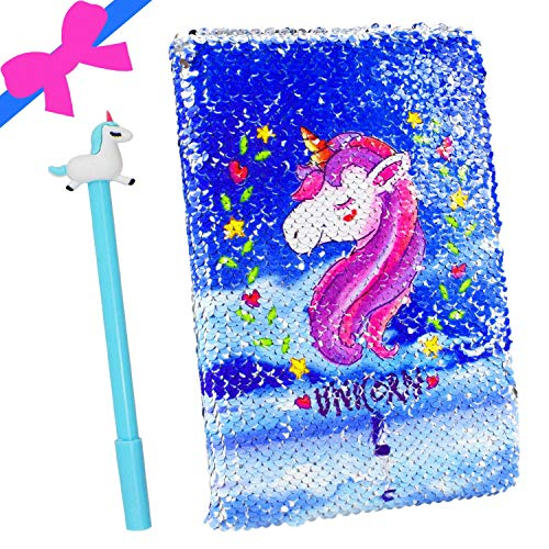 Juego de bolígrafos de gel Unicorn Diario, Unicornio Cuaderno Lindo Jotter con Bolígrafo Regalo de cumpleaños Regalo de vuelta a la escuela unicornio Regalos para niñas niños para todas las edades
