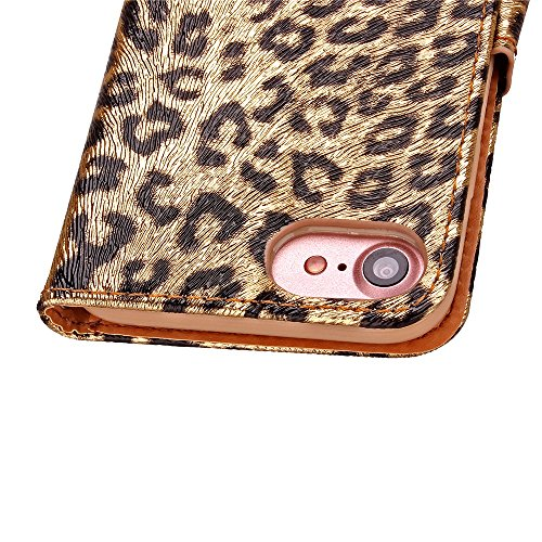 iPhone Case Cover iPhone 7 Fall, Leopard-Muster-Farbdruck-Malerei-Kasten PU-Leder pretective Fall mit Standplatz-Mappen-Funktion für Apple iPhone7 4,7 Zoll ( Color : 2 , Size : Iphone 7 ) 2