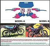 Emanuel & Co Kit adesivi Decal stikers Yamaha DT 125 1993 1995 (Geben Sie Model A Oder B)