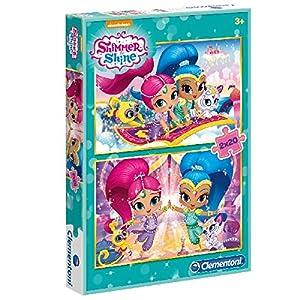 Clementoni Spa - Pack puzzles 2x20 piezas shimmer & shine clementoni