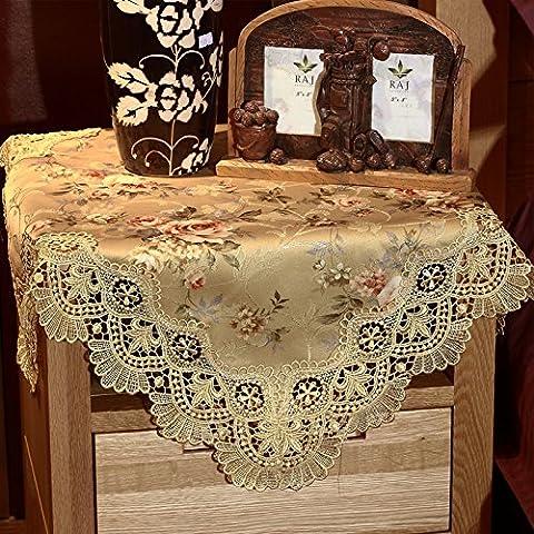 El mantel de tela rectangular de tela de encaje Europeo de alta calidad de café mesa silla de respaldo con la Pastoral de conjunto de