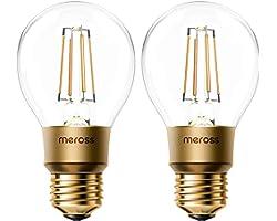 Ampoule Connectée WiFi, Ampoule Edison LED Compatible avec Alexa, Google Home et SmartThings, Blanc Chaud 2700K E27 Ampoule D