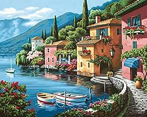 Dimensions Peinture par numéro Kit 20 « X 16 »-Lakeside Village