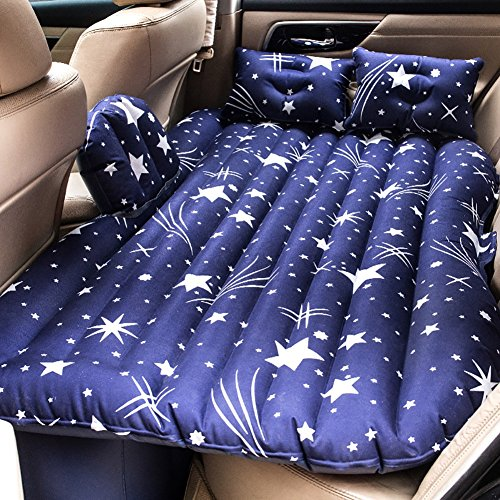 Matelas d'air de voyage de voiture, Coussin de siège arrière de GM Les enfants de repos de repos jouent les sports intimes, pompe électrique et oreiller intégrés, disponibles dans deux couleurs.