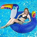 Riesiger aufblasbarer Toucan Luftmatratzen - WISHTIME Aufblasbarer Pool Float Sonnenliege Lilo Swimmingpool Strand Urlaub Spielzeug für Kinder und Erwachsene