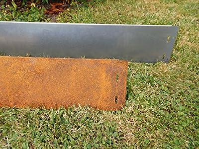 10x Rasenkanten Corten Stahl schmal 18 cm Mähkante Beeteinfassung Metall 1 mm von C & C Gartenbedarf bei Du und dein Garten