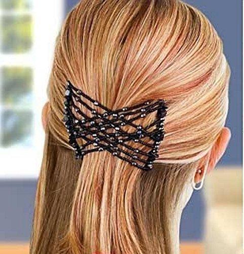 Y-BOA - Peignes Perles Brésilien Magiques à Cheveux - Noir– Femme – 4''*3'' – Pince Plastique Accessoire Coiffure