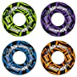 SET of 4 Inflatable Turbo Extreme Swim Ring Rubber Tube Beach Lilo Pool 47""
