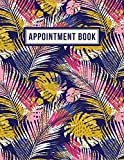 Appointment Book - 15 Minute Increments | Appointment Planner | Daily Hourly Schedule | + BONUS Client Information Pages | Modern Tropical Palms
