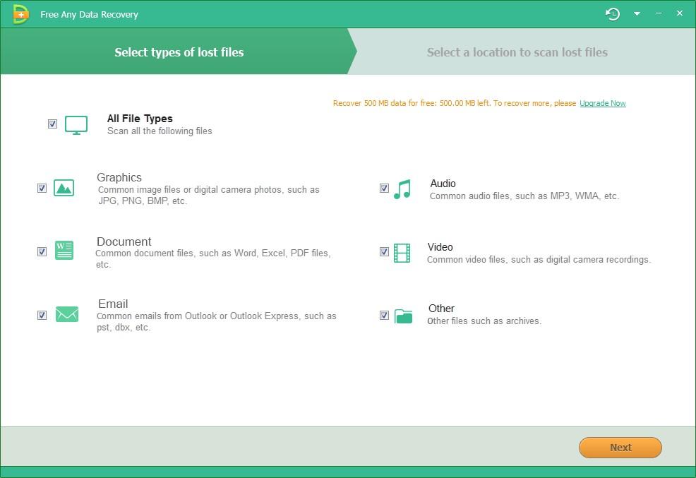 Befreien Beliebig Data Recovery Software - Wiederherstellung von verlorenen Daten von der Festplatte / CF / SD / USB / Kamera [Download]