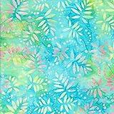 Türkis 100% Baumwolle Bali Batik tie dye Muster Stoff für Patchwork und Quilten–(Preis pro/Quarter M