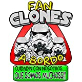 Pegatina Star Wars fan clones a bordo