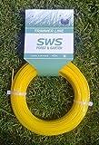 SWS cable para cortar Recortadora de hilo forma de estrella y 2,0 mm x 40 m