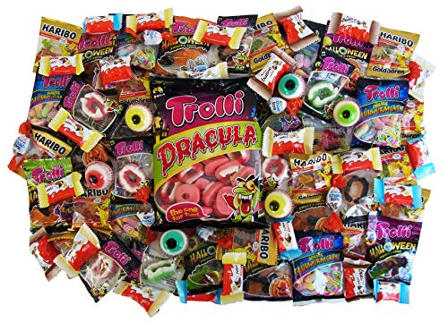 Horror Halloween Party Bucket mit schaurigen Süßigkeiten, 1er Pack (1 x 1kg) - 2