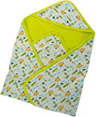 Mee Mee Baby Warm Wrapper with Hood (Green)