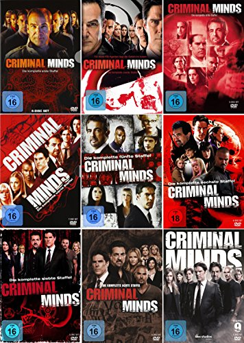 Criminal Minds - Die komplette 1. + 2. + 3. + 4. + 5. + 6. + 7. + 8. + 9. Staffel (51-Disc | 9-Boxen) (Criminal Minds Staffel Sechs)