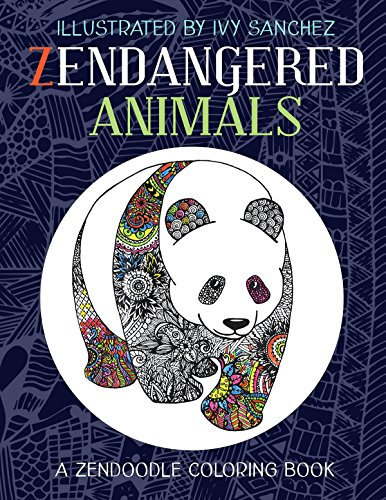 Zendangered Animals: A Zendoodle Book (English Edition) -