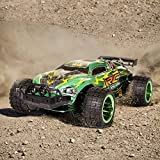 SGILE Super Fast RC Toy Cars, Electric Off Road Vehicle petrol Buggy Racer, Rechargeable Remote Control High Speed Monster SUV with 4WD Rock Crawler for Kids (Green)