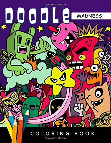 Doodle Madness: An Cute Adults Coloring Book Stress Relieving Patterns for Girls por Rocket Publishing