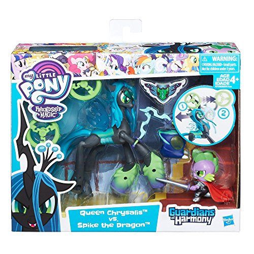 my-little-pony-guardians-of-harmony-queen-chrysalis-v-spike-the-dragon-englisch-version