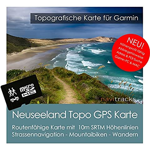 New Zealand Garmin Topo 4GB MicroSD. Montagne GPS for Biking, Hiking Skiing Hiking Geocaching Indoor and Outdoor Use. Camper Colorado Dezl Cam Edge Tourist Map Dakota eTrex GPSMAP, OREGON Montana Monterra Rino Nuvi Street Pilot Zümo Navigation Devices for PC and Mac
