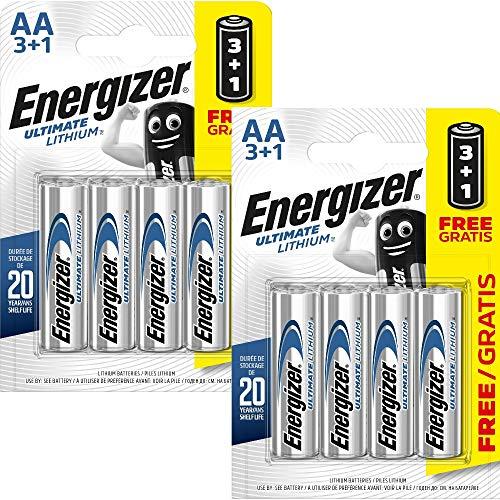 All Trade Direct Energizer Aa Lot de 8 piles lithium LR6 L91 Date de péremption 2025