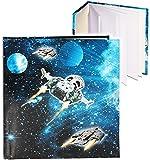Unbekannt Poesiealbum / Notizbuch -  Weltraum - Space - Raumschiff  - blanko weiß - Dickes Buch gebunden - 96 Seiten - Reisetagebuch / Tagebuch - Softcover / Fotobuch..