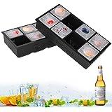 GoZheec Eiswürfelformen Silikon XXL Eiswürfel Form Eiswürfelbehälter 2er Pack Eiswürfelbereiter 5 cm Große Eiskugeln Runde Eiskugelformer Ice Tray Ice Cube für Bier Cocktails Whisky…