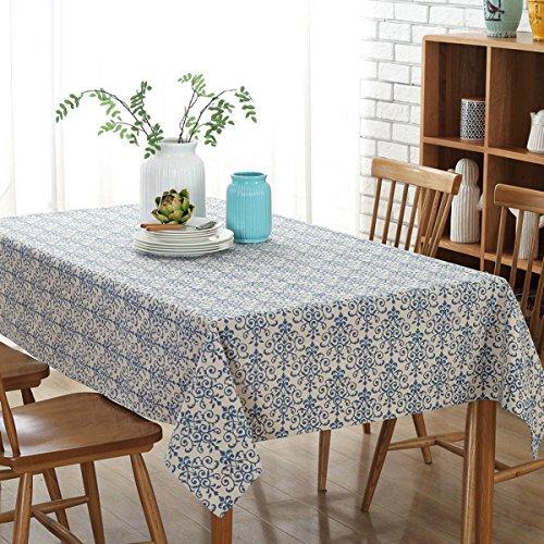 Tischdecke Klassisch Baumwolle Tischdecke Blau Und Weiß Porzellan Farbe Tischdecke Tischdecken...