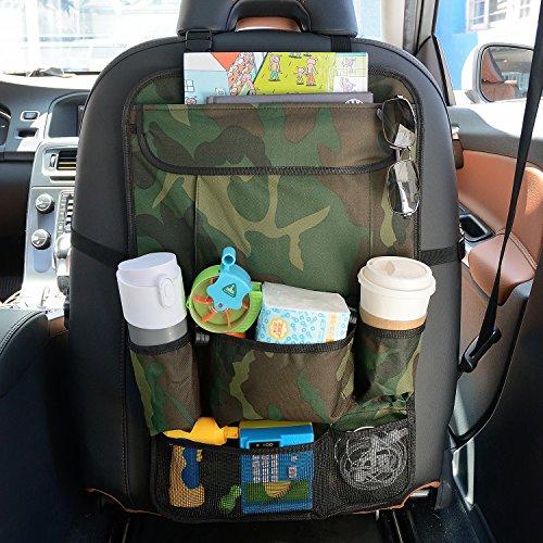 Preisvergleich Produktbild Plusinno(TM) GeräumigerAuto Rückenlehnenschutz,Rücksitzschutz,Rücksitztasche,Rücksitz Organizer für Kinder,Reise-Utensilien und Spielzeug (Camouflage Grün)