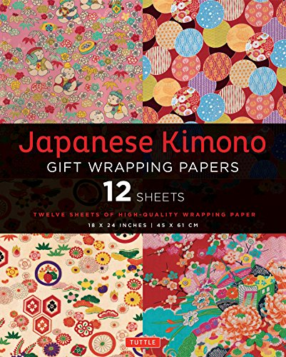Japanese kimono gift wrapping papers