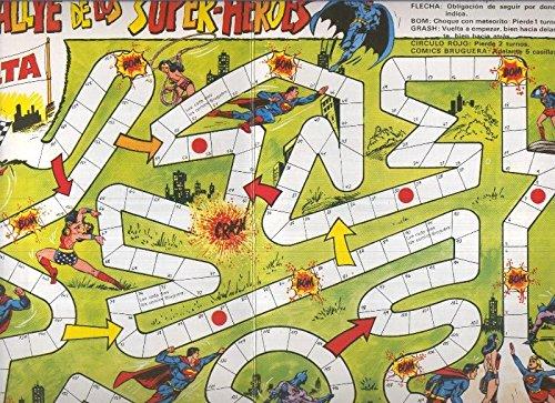 Cartones juegos (suplemento revistas): El rallye de los super heroes