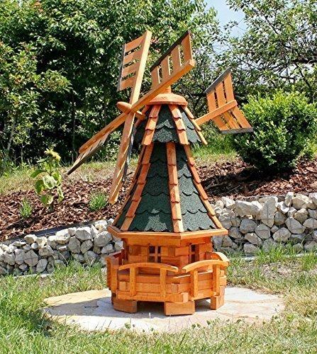 Gartenwindmühle, grün Typ 11
