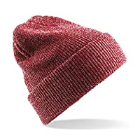 Beechfield Heritage Beanie B425 Heather Burgundy 3