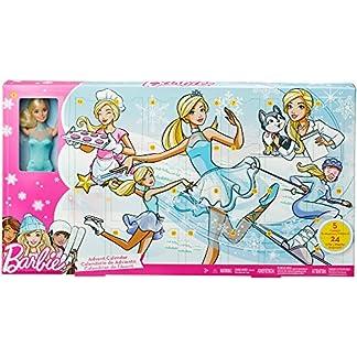 Barbie- Advent Calendar Calendario de Adviento, Multicolor (Mattel FGD01)