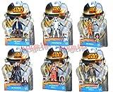 Star Wars Rebels Figuren A3857 - 6er Pack - Stormtrooper/The Inquisitor/Ezra Bridger/Luke Skywalker/Lando Calrissian/Han Solo