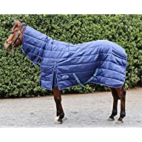 Barnsby Equestrian Horse Stable Rug-420D Oxford 200g Filling with Neck Combo - Navy