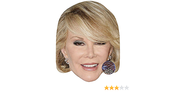 Joan Rivers Celebrity Mask Card Face and Fancy Dress Mask