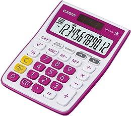Casio MJ-12VCB-PK Desktop Calculator (White and Pink)