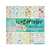 #9: Itsy Bitsy-Water Color Floral Ballet Paper Pack 12X12 inch 160Gsm 12Sheets Ib