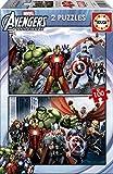 Educa 15771 - Kinderpuzzle - Avengers, 2 x 100-Teilig
