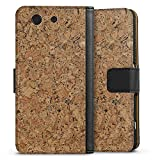 Sony Xperia Z3 Compact Tasche Hülle Flip Case Holz Look