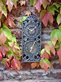 Uhr und Thermometer für den Außenbereich, zinnfarben, wetterfest