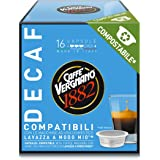 Caffè Vergnano 1882 Capsule Caffè Compatibili Lavazza a Modo Mio Compostabili, Decaffeinato, 128 Unità - 1 kg