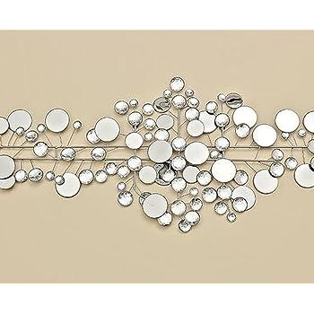 boltze wanddeko 95 x 43 cm ruben metall silber. Black Bedroom Furniture Sets. Home Design Ideas