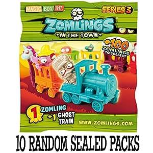 Zomlings Série 3 trains fantômes - 10 paquets aléatoires scellés