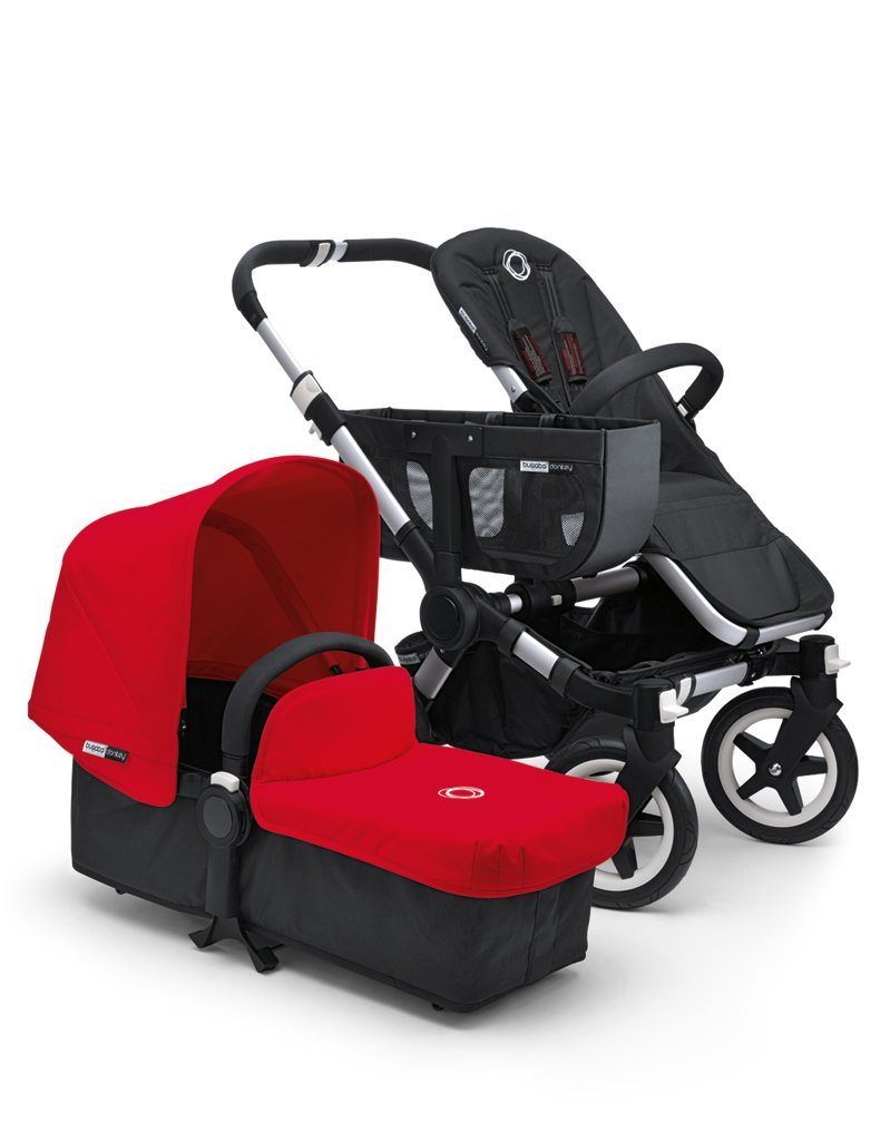 Bugaboo Donkey Tailored Canvas in Red Bugaboo Includes sun canopy and bassinet apron. Easily refresh stroller look by changing the fabric set Available in a variety of colors. 1