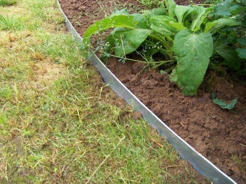 Rasenkanten aus Edelstahl, V2A, 130 mm hoch, Beeteinfassung, 5er Set