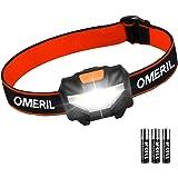 Waterdichte led-hoofdlamp, 150 lm, zwart/oranje