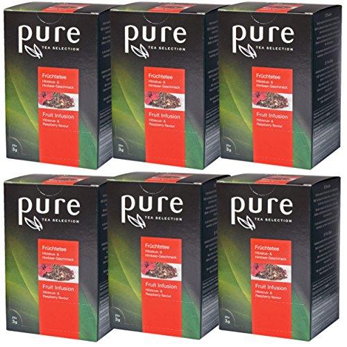 Tee Hibiskus & Himbeere aus der PURE Tea Selection, 6 x 25 Sachets
